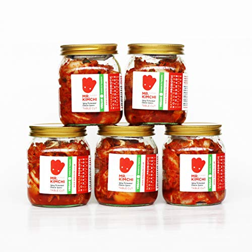 250g Vegan Kimchi X 5 Get One Free Jar - Freshly UK- Made Vegetarian Kimchi Based on Authentic Korean Recipe (Natural Fermentation, Natural Probiotics, No Artificial Additives, Unpasteurised)