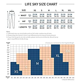 LifeSky Yoga Pants with Pockets for Women, High Waisted Tummy Control Leggings 4 Way Stretch Workout Pants
