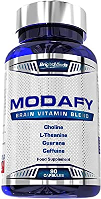 Modafy | NEW Premium Nootropic Brain Stack For Clarity, Energy, Concentration & Focus | BEST Formula Nootropics powered by L-Theanine, Phosphatidylserine, Guarana, Lion's Mane & COQ10 | 90 Capsules