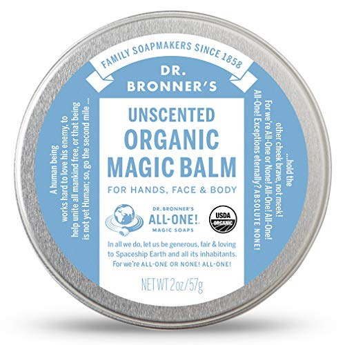 Dr. Bronner's - Organic Magic Balm (2 Ounce) - Made with Organic Beeswax and Organic Hemp Oil, Relieves and Relaxes Sore Muscles and Achy Joints, Moisturizes and Soothes Dry Skin (Baby Unscented)