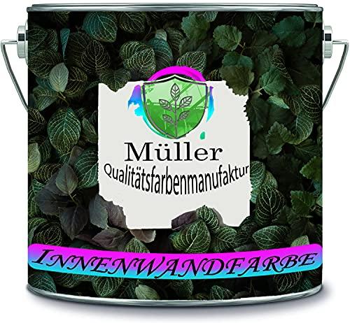Müller Qualitätsfarbenmanufaktur Pintura multicolor para paredes interiores de alta opacidad sin disolventes, 1 capa opaca (10 L, blanco)