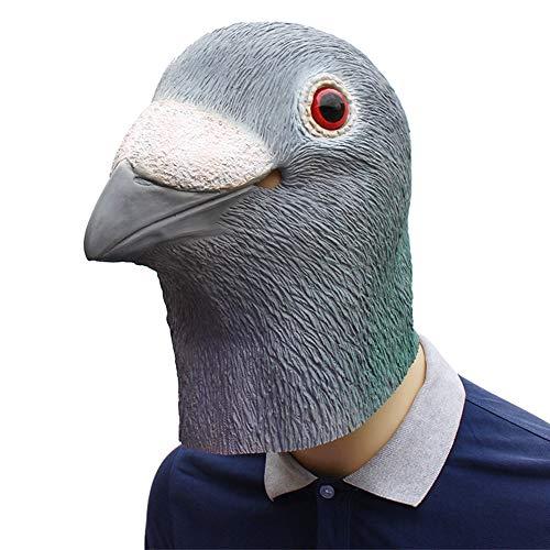 GIYL Halloween masker, latex dierenhoofd masker duif, voor de verkleedde nacht/Halloween/carnaval