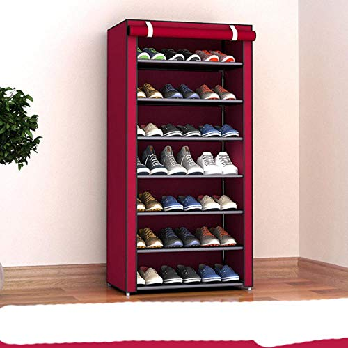 Zapatero organizador de zapatos de metal de aluminio para zapatos, estante de almacenamiento de zapatos, organizador de casa, accesorios, velcro 26
