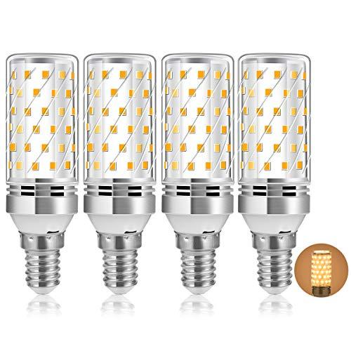 E14 LED Mais Glühbirnen 12W, E14 Maiskolben Led Lampe Entspricht 100W Halogenlampe 3000K Warmweiß 1200LM Nicht Dimmbar, Kleine Edison-Schraube Kerze Leuchtmittel Energiesparlampe Birnen, 4er Pack