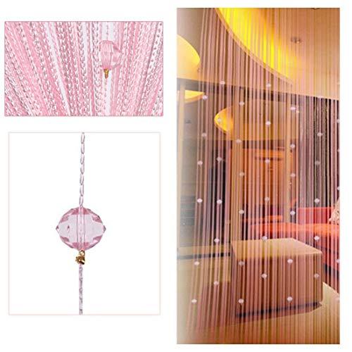 ZAIQUN - Cortinas decorativas para puerta con borlas., Rosa, 1 m x 2 m