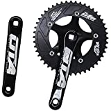 GANOPPER 48T Single Speed Road Bike Crank Set 130mm BCD PCD 5 Arm Track Fixed Gear Bicycle Crank Kit...