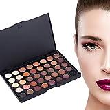 Paleta de sombras de ojos, 40 colores Mineral Pigmento mate Sombra de ojos a prueba de agua en polvo Cosméticos de maquillaje Por Filfeel(#1)