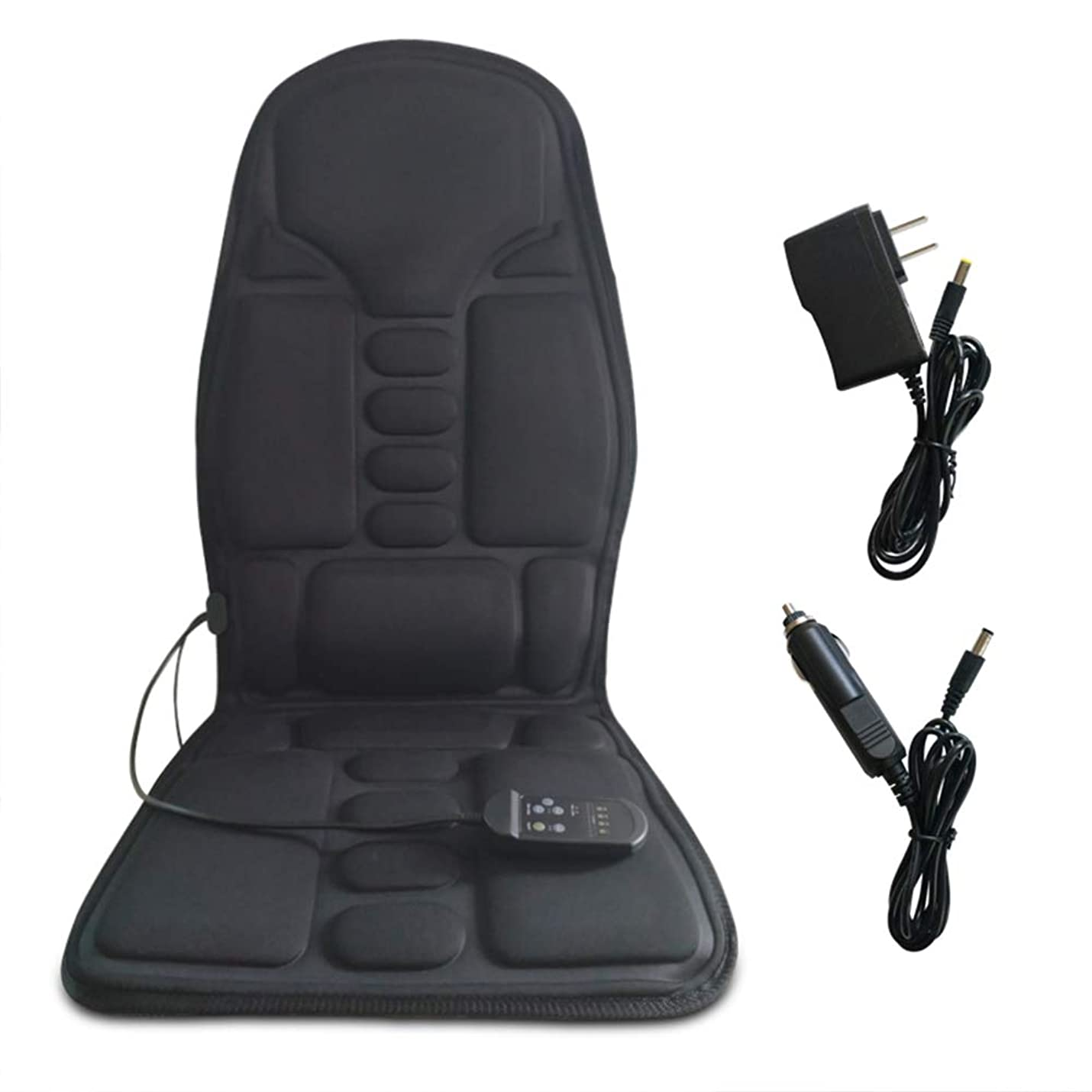 うんピン薄汚い携帯用電動マッサージシートクッション - 7つのモーター振動及び4つのモード3速度、ショルダーネックとバックウエストヒップ、全身の痛みの筋肉の軽減ホームオフィスのカーシート