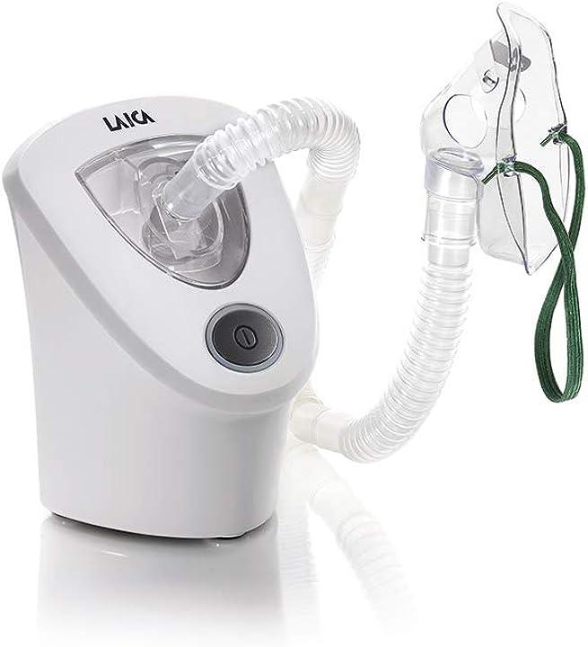 Aerosol a ultrasuoni portatile per adulti e bambini silenzioso, bianco laica md6026