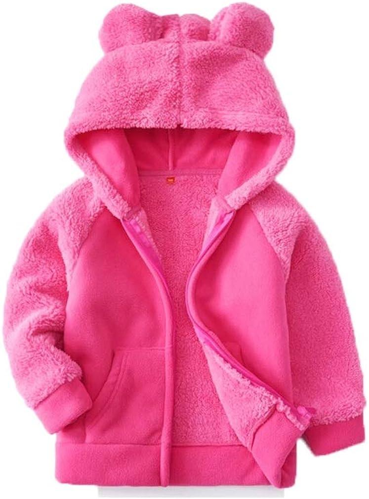 Stesti Kids Fleece low-pricing Hoodie Jacket Fur Jac Windbreaker Faux Safety and trust