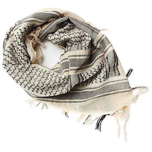 FREE SOLDIER 100% katoen militair tactical desert shemagh paleis sjaal wrap voor mannen en vrouwen (beige)