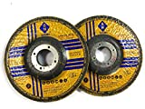 Signi Aluminum Grinding Wheel 4 1/2 for Aluminum Copper Non-Ferrous 10 Pack (Not Load While Grinding)