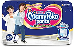 MamyPoko Pants Extra Absorb Diapers, XXXL (18 - 35 kg), Pack of 7