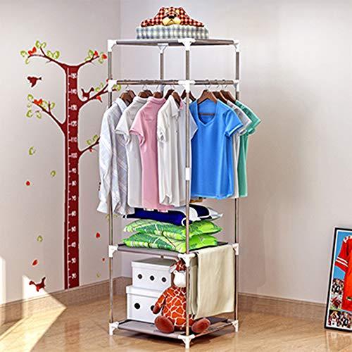 XYBB Armario Dormitorio Secado Multifuncional Simple Abrigo Dormitorio Balcón Almacenamiento De Ropa De Pie China Blanco