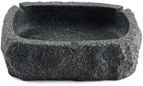 NMDCDH Aschenbecher Stein Aschenbecher Büro kreative Persönlichkeit Dekoration Zuhause Wohnzimmer Mode Aschenbecher tragbare Aschenbecher (Farbe: grau, Größe: 5 * 4 * 11 cm)