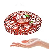 MARSMO Flying Toys Drones Children's Gift UFO Mini Drones for Kids and Adults Hand Controlled RC Helicopter Quadcopter Rechargeable with Infrared Induction Boys Girls Flying Toy Orange【2020 NEWEST】
