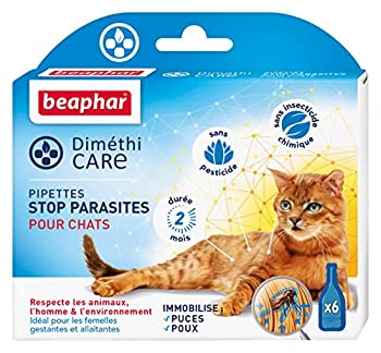 Beaphar - DiméthiCARE, pipettes stop parasites - chat - 6 pipettes