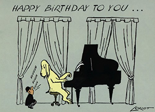 Postkarte A6 • 006 ''HB / Klavier'' von Inkognito • Künstler: Loriot • Geburtstag