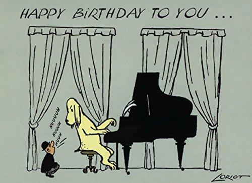 Postkarte A6 • 006 ''HB / Klavier'' von Inkognito • Künstler: LORIOT DESIGN GMBH © Loriot • Geburtstag