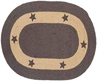 IHF Home Decor Jute Braided Rug   Oval Indoor Outdoor Area Carpet   Charcoal Gray, Tan Floor Hand Woven   Grayson Star Des...