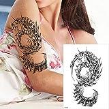 3 Piezas Tatuaje de Agua Rosa Tatuaje Mujer Brazo Manga Vampiro Tatuaje 3 piezas-10...