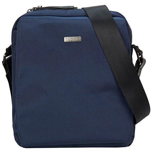 Bugatti Contratempo Umhängetasche für Herren, Schultertasche Messenger Bag Kuriertasche Medium, Blau