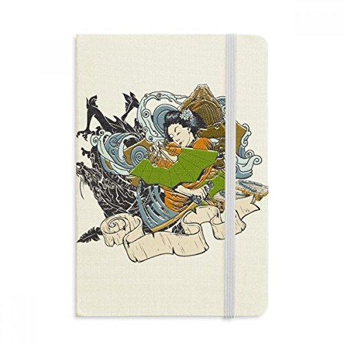 DIYthinker Japan Kimono Vrouw Samurai Zwaard Notebook Stof Hard Cover Klassieke Dagboek A5 A5 (144 X 210mm) Multi kleuren