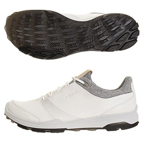 ECCO Women Golf Biom Hybrid 3, Scarpe Donna, Bianco (White/Black 51227), 37 EU