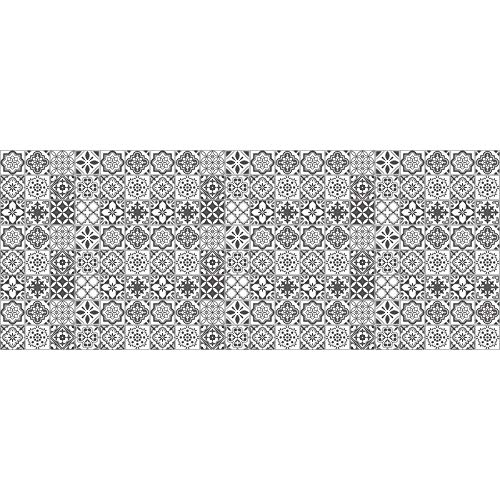 Vinilicca | Azulejos Adhesivos en Rollo | Modelo Bons | 80 x 200 cm | Azulejo 10 x 10 cm | Vinilos Decorativos Resistentes | Fácil Aplicación | Limpieza Sencilla | Diseños Exclusivos