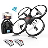 DBPOWER Drone U818A Discovery FPV WiFi Drones with Camera for Beginners/Kids/Teens,Quadcopter U…