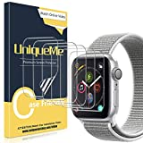 UniqueMe [6 Stück] Schutzfolie für Apple Watch 42mm séries 3/2/1, [Wasserfreie Adsorption] [Flexible Folie] Soft HD TPU Clear Anti-Scratch Bildschirmschutzfolie