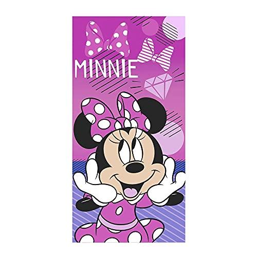 Toalla de Playa Disney Minnie Mouse, 100% Microfibra, 70X140 cm, Producto Oficial Disney