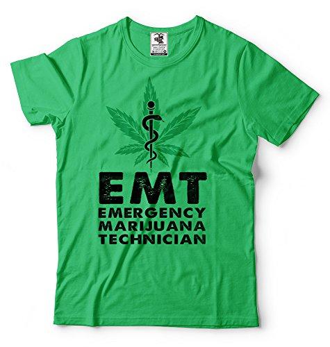 Silk Road Tees EMT la Camiseta de los Hombres de Emergencia Marihuana técnico Divertido de la Marijuana Camiseta