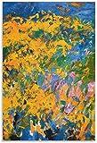 APAZSH Cuadros Decoracion Poster de Joan Mitchell La Grande Vallee, Pintura artística de Pared, Lienzo, Impresiones de Regalo, póster de decoración, Obras de Arte 60x90cm x1 Sin Marco