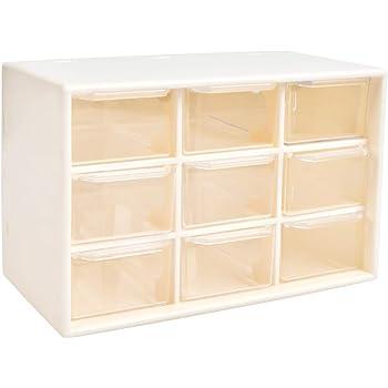Caja de organizador de almacenamiento de herramientas de bricolaje YOTINO, 9 cajones Tornillos de taller y caja de artesanía estacionaria de gabinete de piezas pequeñas (blanco): Amazon.es: Bricolaje y herramientas