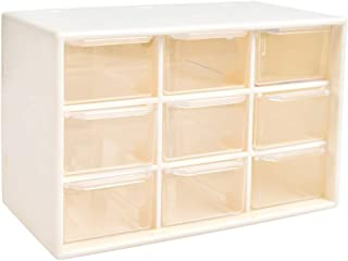 Caja de organizador de almacenamiento de herramientas de bricolaje YOTINO, 9 cajones Tornillos de taller y caja de artesan...