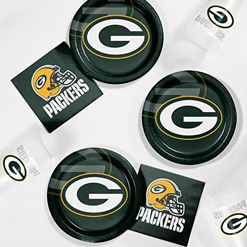 Creative Converting Green Bay Packers Tailgating Kit, Serves 8