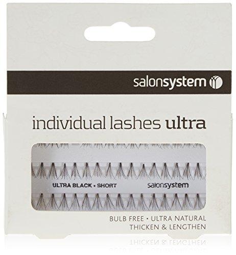 Salon System Individual Bulb Free Ultra Black Short Flare Lashes