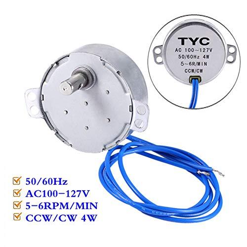 Synchroonmotor 50/60Hz AC100-127V 5-6RPM/MIN CCW/CW 4W, permanente magneet, laag stroomverbruik, groot draaimoment, laag lawaai, voor radiator, lampen, airconditioning