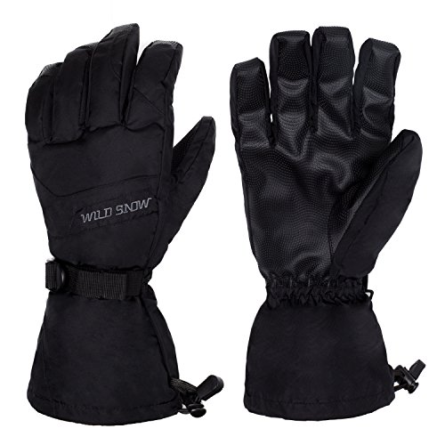 Plizza Waterproof Windproof Ski Gloves Thermal Warm Snow Skiing Snowboarding Snowmobile Winter Sports Women Men(Pair)