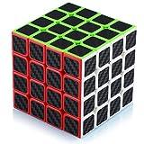 Maomaoyu Cubo Magico 4x4 4x4x4 Profesional Puzzle Cubo de la Velocidad Fibra De Carbono Negro