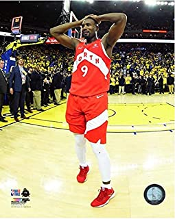 Serge Ibaka Toronto Raptors 2019 NBA Finals Celebration Photo (Size: 20