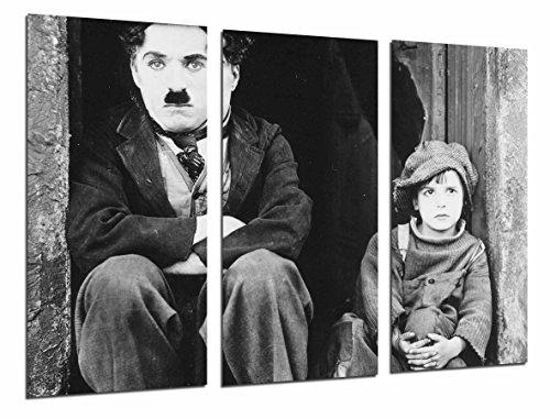 Cuadro Fotográfico Cine Mudo Antiguo Vintage Blanco y Negro, Chaplin Tamaño total: 97 x 62 cm XXL
