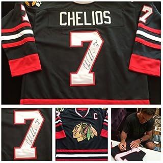 ae8d9ef0d0f Chris Chelios Chicago Blackhawks Signed Autograph Black Jersey. JSA COA