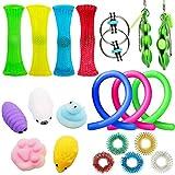20Pcs Juguetes Sensoriales, Kit de Juguetes Antiestrés, para Aliviar el Estrés para Niños y Adultos, Sensory Fidget Toys Set de juguetes sensoriales Set de juguetes sensoriales para TDAH, Autismo