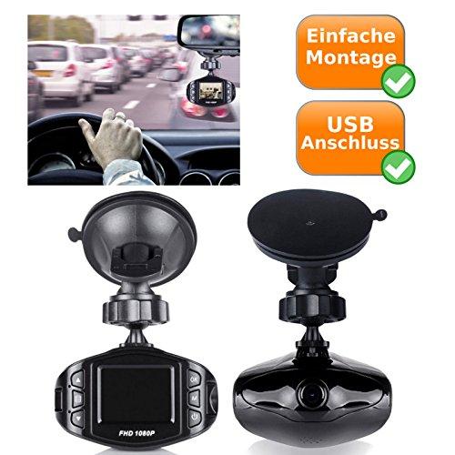 Full HD Dash Cam - Auto videocamera bewaking met 140 graden kijkhoek - autocamera met geïntegreerde microfoon en luidspreker