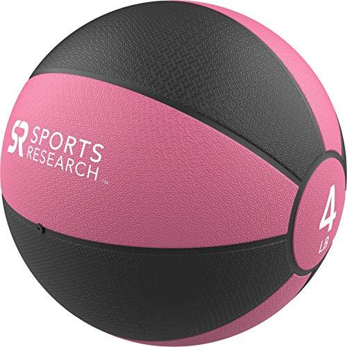 Sports Research Medicine Ball (4lb) | Helps Develop core Strength & Balance