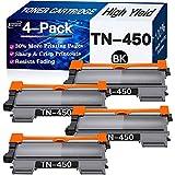 Eyouinc Compatible Toner Cartridges Replacement for Brother TN450 TN-450 TN420 TN-420 Toners use for Brother DCP-7060D DCP-7065DN HL-2275DW HL-2240D MFC-7365DN Printer (High Yield, Black, 4-Pack)