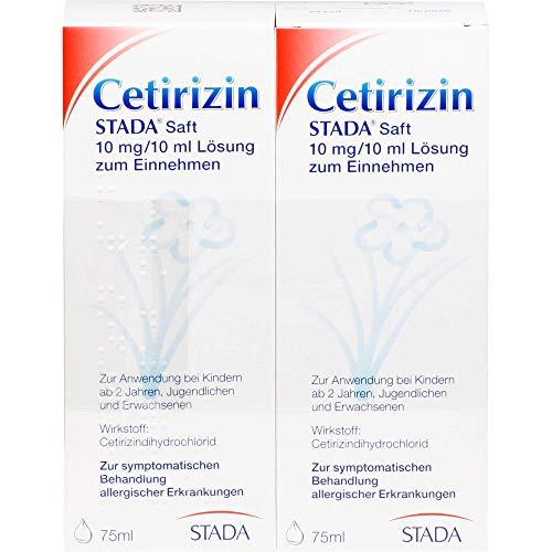 Cetirizin STADA Saft zur symptomatischen Behandlung allergischer Erkrankungen, 150 ml Lösung