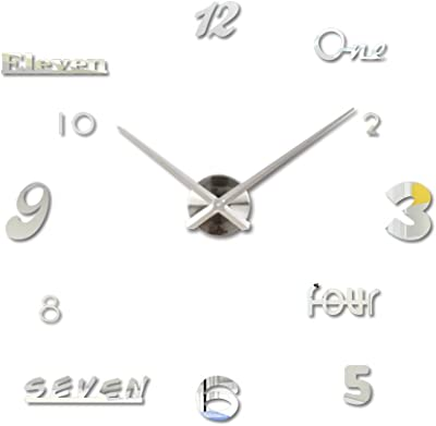 M.Sparkling Numbers Letters Sticker DIY Digital Wall Clock